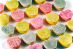Saint-Valentin de coeurs de sucrerie Photo stock