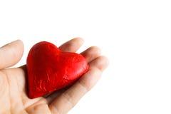 Saint Valentin de concept mon coeur dans votre main Image libre de droits