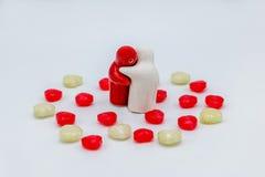 Saint Valentin de sucrerie d'amour de coeur Images libres de droits