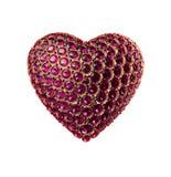 Saint-Valentin en cristal abstraite de coeur image libre de droits