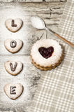 Saint-Valentin faite maison de biscuits Images stock