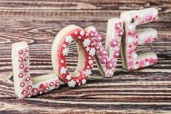 Saint-Valentin faite maison de biscuits Images stock