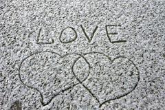 Saint-Valentin froide de fond d'hiver de fidélité de coeur d'amour Image libre de droits
