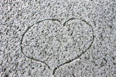 Saint-Valentin froide de fond d'hiver de fidélité de coeur d'amour Photos stock