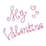 Saint-Valentin heureuse d'inscription Images libres de droits