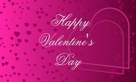 Saint-Valentin heureuse de bannière de rose illustration libre de droits