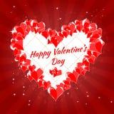 Saint-Valentin heureuse de carte de voeux, coeurs, photo libre de droits