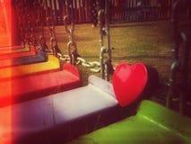 Saint-Valentin heureuse de coeur Images libres de droits
