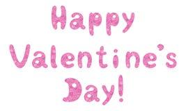 Saint-Valentin heureuse de vacances de lettrage illustration libre de droits