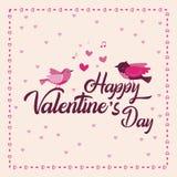 Saint-Valentin heureuse douce de carte de voeux illustration stock