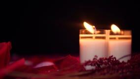 Saint Valentin heureux avec la longueur de la combustion de bougie banque de vidéos