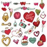 Saint-Valentin, mariage, amour, décor de coeurs Photos libres de droits