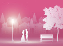 Saint Valentin, mariage, art de papier illustration de vecteur