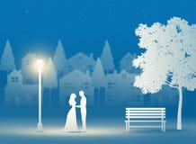 Saint Valentin, mariage, art de papier illustration libre de droits