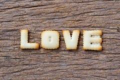 Saint-Valentin, mot d'AMOUR composé de avec lettres de biscuits Photo libre de droits