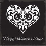 Saint-Valentin. Ornement de coeur. Image libre de droits