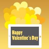 Saint-Valentin ou contact pour la joie Image libre de droits