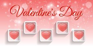 Saint Valentin rouge créatif de bannière de coeur Photos stock