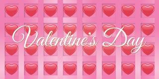 Saint Valentin rouge créatif de bannière de coeur Photo stock