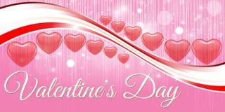 Saint Valentin rouge créatif de bannière de coeur Photo libre de droits