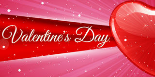 Saint Valentin rouge créatif de bannière de coeur Images stock