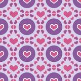 Saint Valentin sans couture coloré de modèles Photos libres de droits
