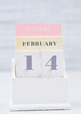 Saint-Valentin sur le calendrier Images stock