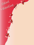 Saint valentine. Background with red roses Stock Photography