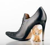 Saint Valentine Angel and a Shoe Stock Image