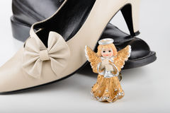 Saint Valentine Angel with two Shoes Royalty Free Stock Photo