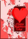 Saint Valentine background with floral fantasy Royalty Free Stock Image