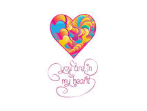 Saint Valentine background. Saint Valentine's background with a colorful heart Stock Photos