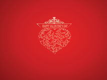 Saint Valentine background. Saint Valentine's background with a heart Royalty Free Stock Images
