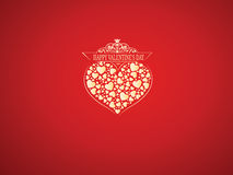 Saint Valentine background. Saint Valentine's background with a heart Royalty Free Stock Photo