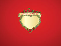 Saint Valentine background. Saint Valentine's background with a heart frame Stock Photo
