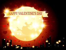 Saint Valentine background. Saint Valentine's background with a moon Stock Image