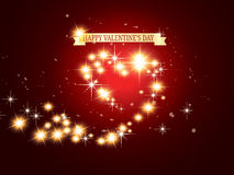 Saint Valentine background. Saint Valentine's background with sparkling hearts Stock Image