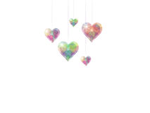 Saint Valentine background. Saint Valentine's background with sparkling hearts Stock Photo