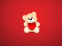 Saint Valentine background. Saint Valentine's background with a teddy bear Royalty Free Stock Photo