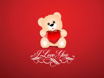Saint Valentine background. Saint Valentine's background with a teddy bear Royalty Free Stock Images