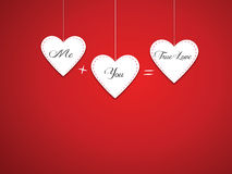 Saint Valentine background. Saint Valentine's background with a white heart Royalty Free Stock Images