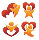 Saint Valentine emblems Stock Photo