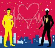 Saint Valentine Gay Heartbeat Stock Image