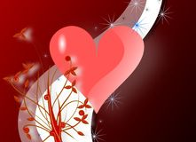 Saint Valentine greeting card with heart Royalty Free Stock Photo