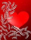 Saint Valentine greeting card with floral fantasy Royalty Free Stock Photo