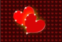 Saint valentine greeting card Stock Images