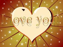 I love you background with heart Stock Images