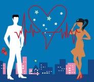 Saint Valentine Heartbeat Foto de Stock Royalty Free