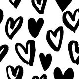 Saint Valentine hearts seamless pattern vector sketch Royalty Free Stock Images