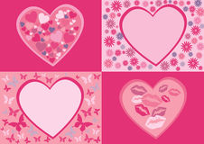 Saint Valentine's day. Cliparts for Saint Valentine's day Stock Image